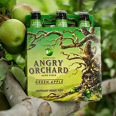 Hard Cider Distributor displaying Angry Orchard Green Apple