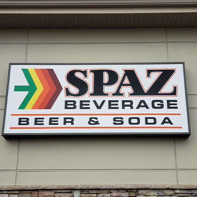 Exterior Spaz Beverage Sign West Chester Location